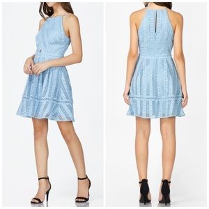 NEW Adelyn Rae Rhea Halter Fit & Flare Lace Dress